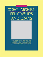 Scholarships, Fellowships and Loans, ed. 34
