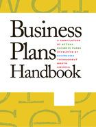 Business Plans Handbook, v. 40 Cover