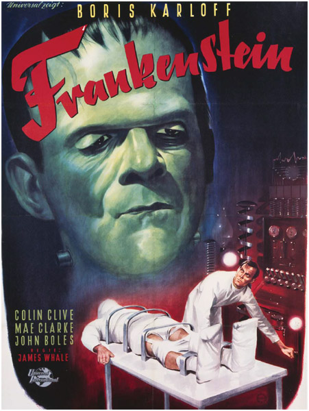 One of the earliest film adaptations of Mary Shelley's Frankenstein was this 1931 film starring Boris Karloff as the title character.