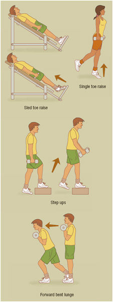 Strong calf muscles also help to keep the feet, knees, hips, back, and even the shoulders healthy.