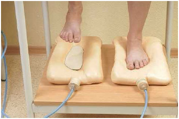 Molds for orthopedic insoles being created at a doctor's office. Shoe inserts are the most popular type of orthotic, but orthotics also include a wide range of devices worn outside of the body to help correct physical problems.