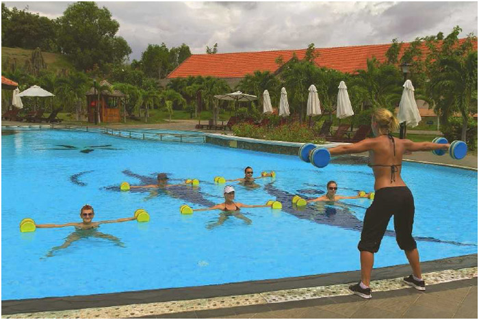 Water exercise allows individuals to work out without placing extra strain on their joints.