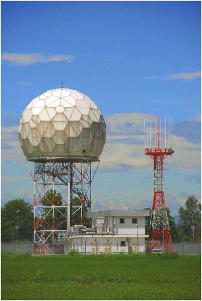 Doppler radar uses EM waves to help forecast the weather.