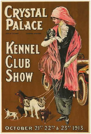 The Kennel Club opened in London in 1873. This poster advertises the club's 1913 dog show.