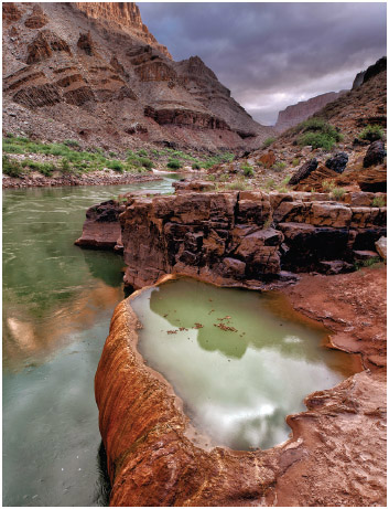 Pumpkin Spring, arsenic pool in Grand Canyon.