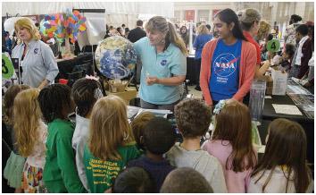 NASA demonstration at Earth Day 2016, Union Station, Washington, DC, April 22, 2016.