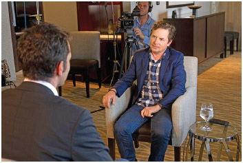 Actor and Parkinson's disease sufferer and activist Michael J. Fox pictured during an interview in New York City.
