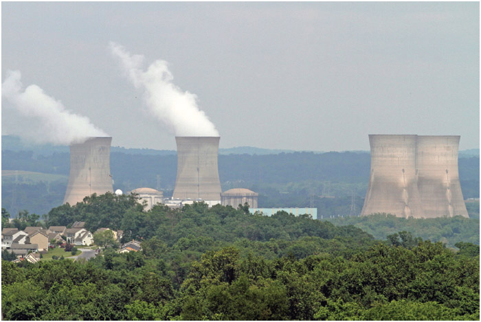 Three Mile Island Nuclear Generating Station, in Londenderry Township near Middletown, Pa., is shown from across the Susquehanna River near Etters, Pa., Wednesday, May 24, 2017. On March 28, 1979,