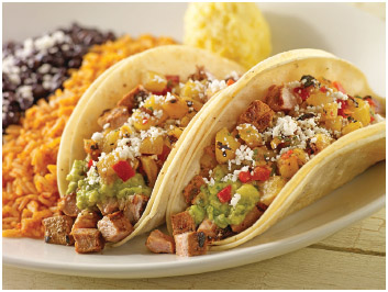 Traditional tacos.