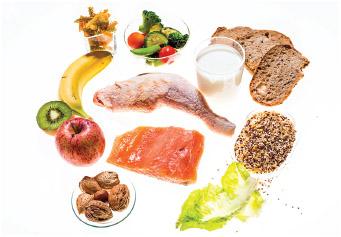 DASH diet food choices.