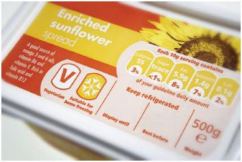 Sunflower oil spread.