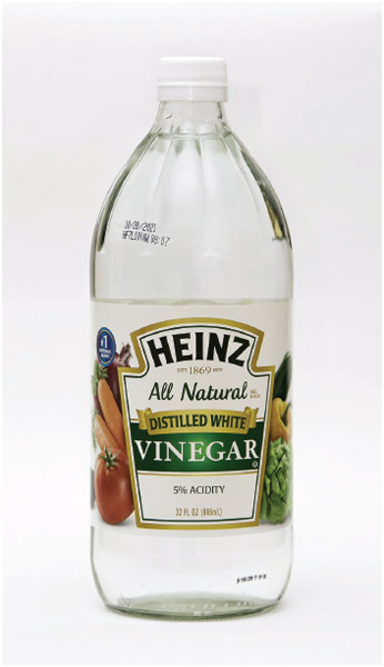 A bottle of vinegar.