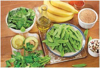 Foods highest in vitamin K.