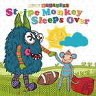 Stripe Monkey Sleeps Over Cover