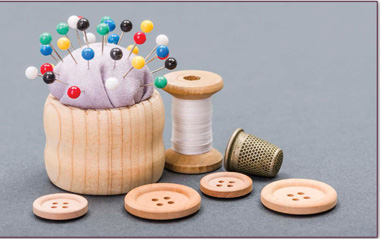 Simple sewing supplies can go a long way when making art projects with fabric. Consider asking a parent or grandparent for sewing supplies.