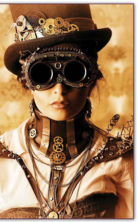 Steampunk costumes are a fun way of experiencing a fantasy world where gears, goggles, and clothing from another century come together to create fun, imaginative gatherings.