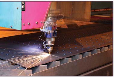 Laser cutters can be used to cut anything from clothing to metal to food.