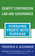 Benefit Corporation Law and Governance, ed. , v.