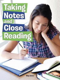 Taking Notes and Close Reading, ed. , v.  Icon