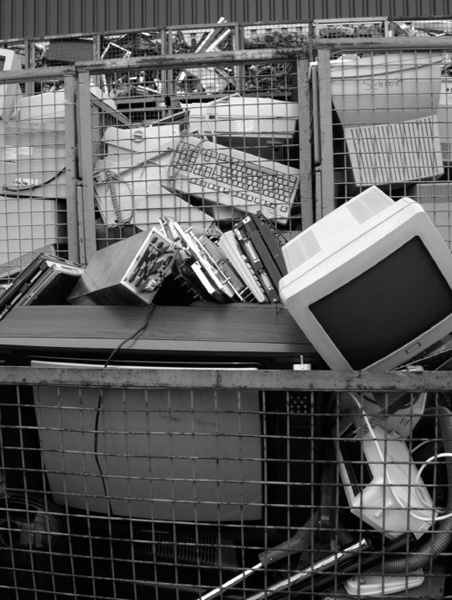 As technology speeds forward, older products become obsolete more quickly. Electronic waste (e-waste) materials are not easily degradable, and the amount of waste accumulating in landfills is increasing.