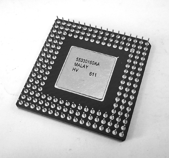 Microprocessors contain all the components of a CPU on a single chip; this allows new devices to have higher computing power in a smaller unit. By M.ollivander, CC BY-SA 3.0 (http://creativecommons.org/licenses/by-sa/3.0), via Wikimedia Commons.