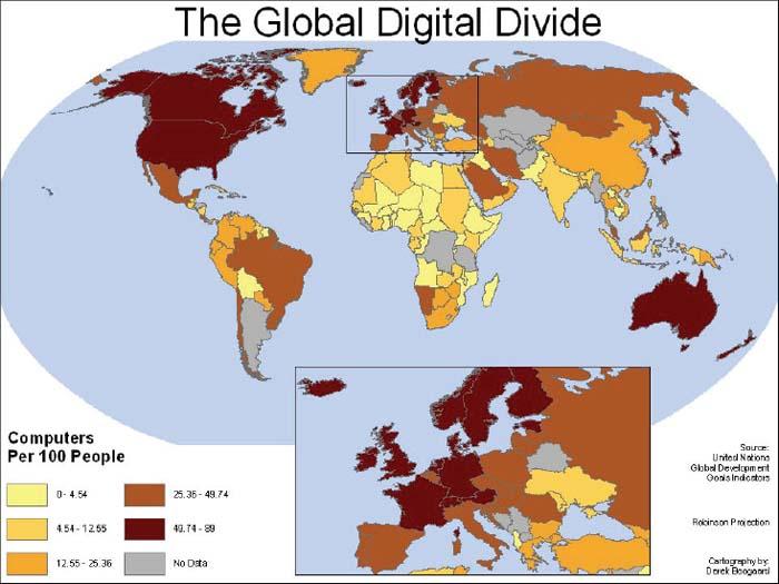 Der Digitale Graben (vgl. 1. Abbildung); Karte ohne Jahr.