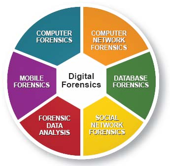 Digital forensics encompasses computer forensics, mobile forensics, computer network forensics, social networking forensics, database forensics, and forensic data analysis or the forensic analysis of large-scale data.