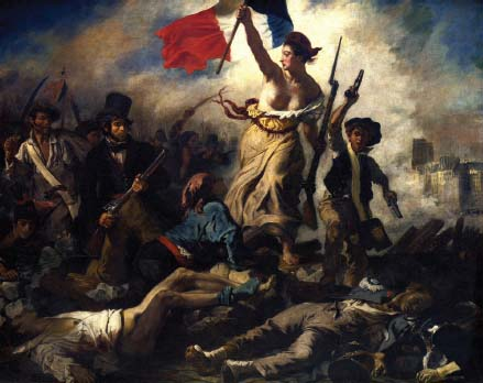 Liberty Leading the People (Eugène Delacroix, 1830) is a famous example of nationalist art.