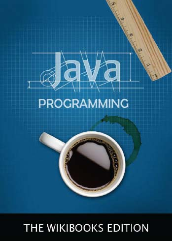 The cover illustration for the Java Programming book on Wikibooks.