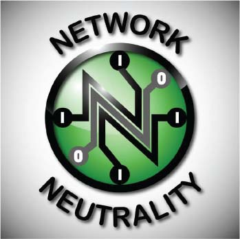 Symbol of Network Neutrality as poster for promotional purposes.