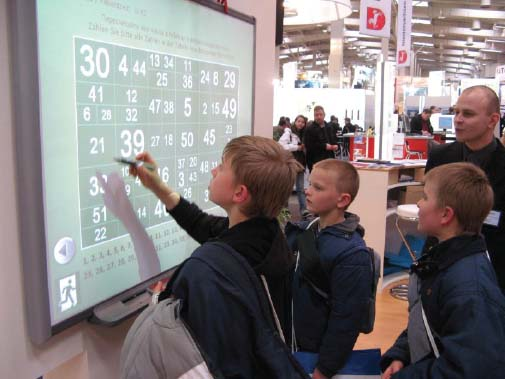Interactive whiteboards are tools in the classroom.