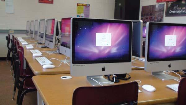 A high school computer lab.