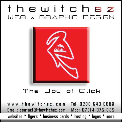 Web & Graphic Design advertisement for thewitchez.