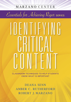 Identifying Critical Content, ed. , v.