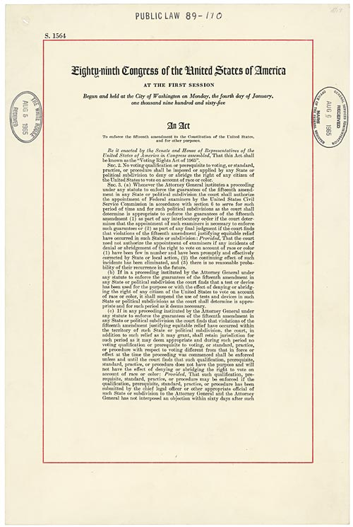 Image of Voting Rights Act of 1965