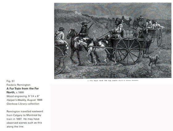 FREDERIC REMINGTON WAGON TRAIN FUR TRAIN FROM THE FAR NORTH HORSE CART INDIANS