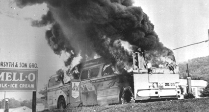Freedom Riders faced violence from angry white mobs as they travelled through the South