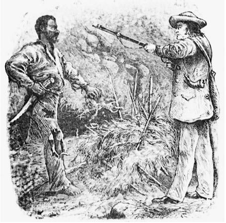 The discovery of Nat Turner. In 1831 Nat led an insurrection in which he and seven other slaves killed his master, Joseph Travis, and the Travis family.  BETTMANN/CORBIS