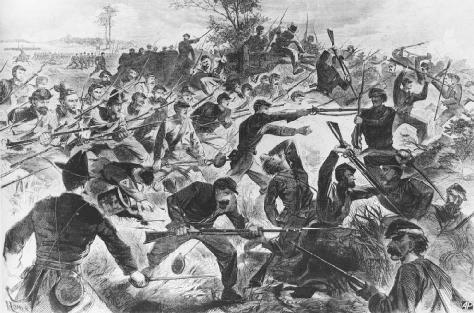 The War for the UnionA Bayonet Charge, a lithograph by Winslow Homer, published in Harpers Weekly, July 12, 1862. AP/WIDE WORLD PHOTOS