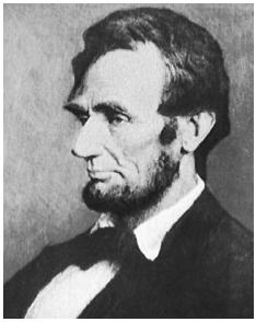 Abraham Lincoln. (Painting by Douglas Volk. Courtesy of the Library of Congress.)