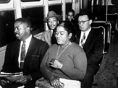 Martin Luther King, Jr. and Ralph Abernathy were two of the many Freedom Riders that fought for integrated interstate bus travel. AP/Wide World Photos. Reproduced by permission.