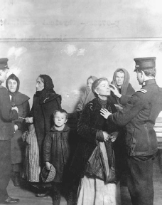 The Immigration Act of 1924 set stricter regulations on immigrants hoping to enter the United States to start a new life. LIBRARY OF CONGRESSCORBIS. REPRODUCED BY PERMISSION.