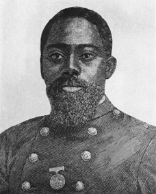 William H. Carney, Medal of Honor recipient for his role in the Civil War.