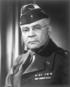 Benjamin O. Davis Sr., the first African American brigadier general in the U.S. armed forces.