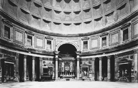 Interior of the Pantheon, Rome, completed 125–128 C.E. © MICHAEL MASLAN HISTORIC PHOTOGRAPHS/CORBIS. REPRODUCED BY PERMISSION.