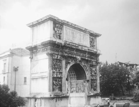 Arch of Trajan at Benevento, Italy, marking the terminus of the Via Traiana. COURTESY OF JAMES ALLAN EVANS.