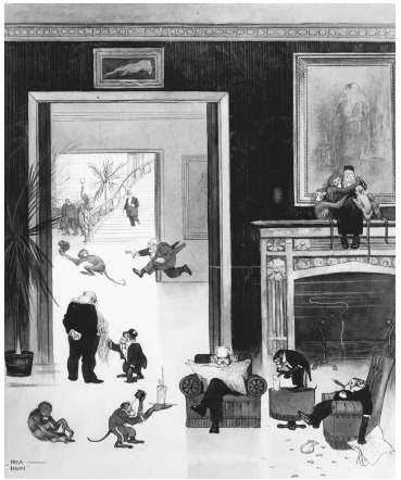 The Darwin Club. Cartoon by Rea Irvin from the Clubs We Do Not Care to Join series in Life magazine, 18 March 1915. THE LIBRARY OF CONGRESS