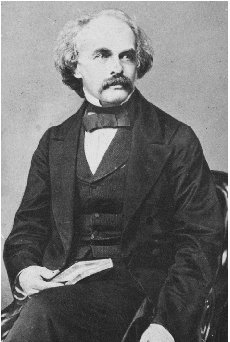 Nathaniel Hawthorne. Photograph from a carte de visite. THE ART ARCHIVE/CULVER PICTURES