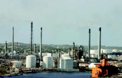 The Isla Oil Refinery in Curacao, Netherlands Antilles.