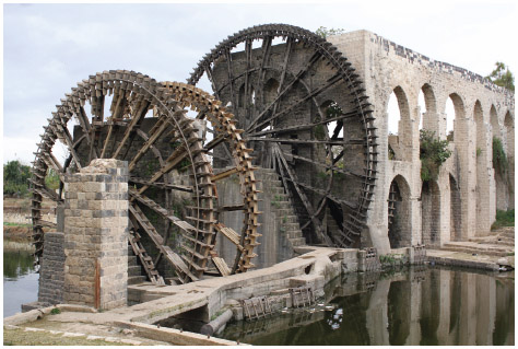 The city of Hama in Syria is famous for its ancient waterwheels, or noria.